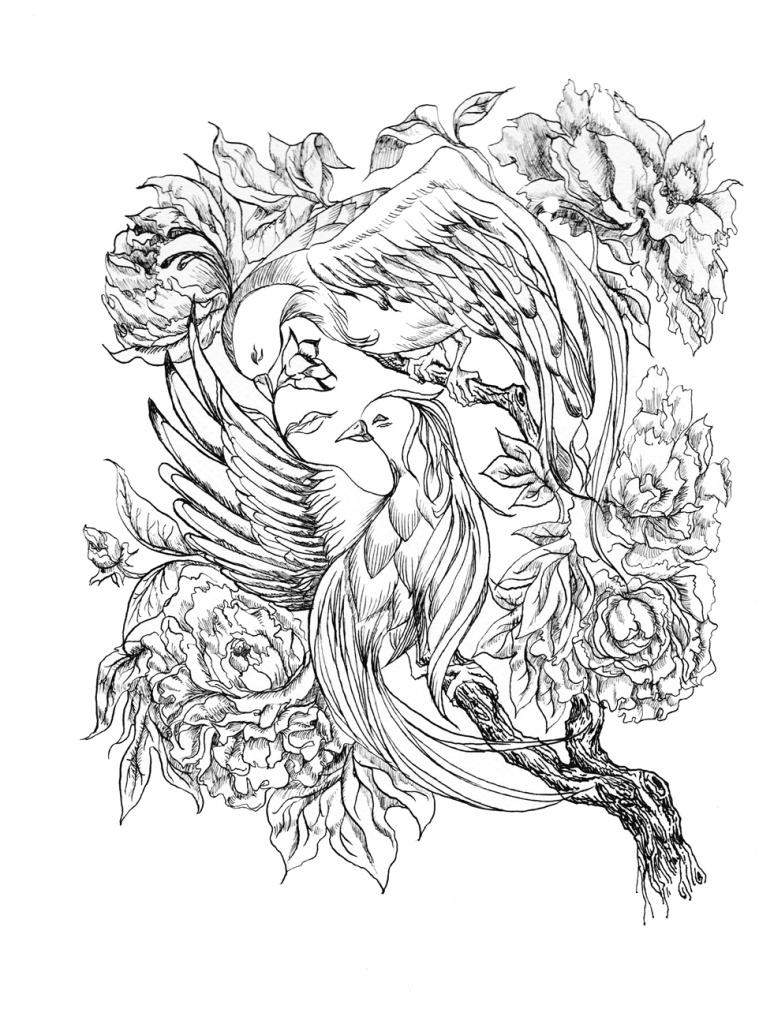 Ink Illustration for my wedding invitation