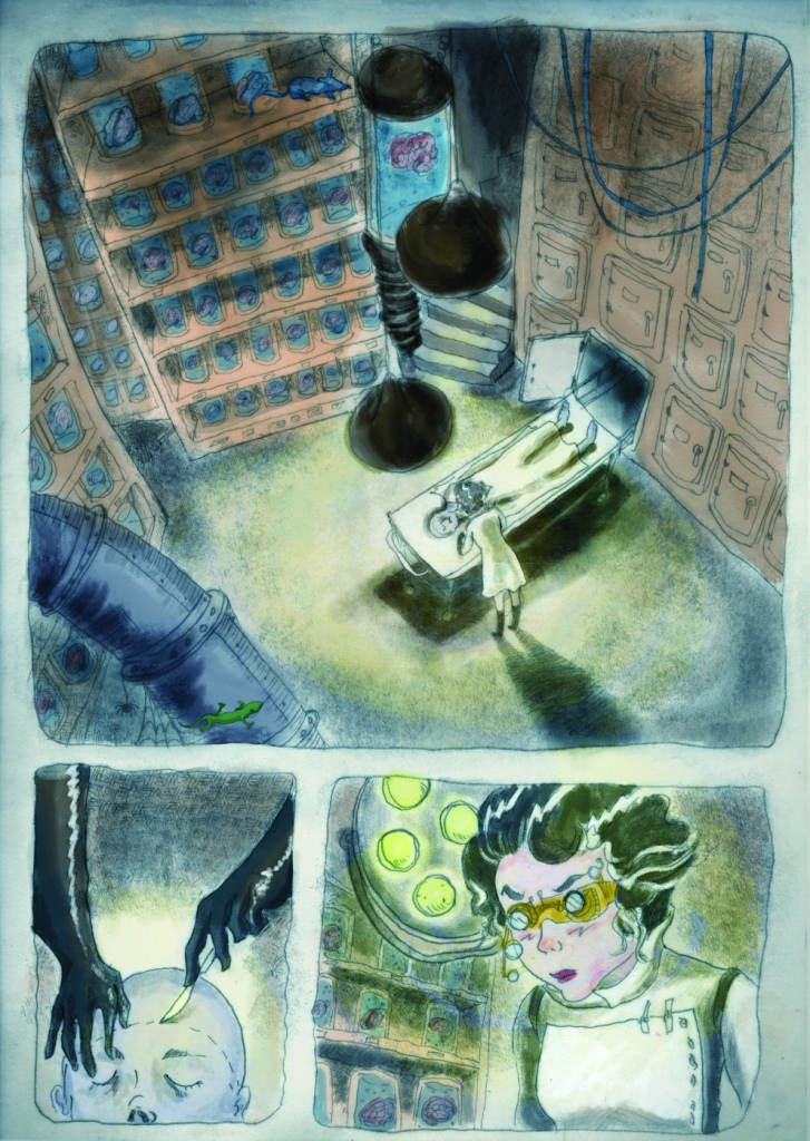 Illustration for s story segment in SCBWI's Undiscovered Voices Competition