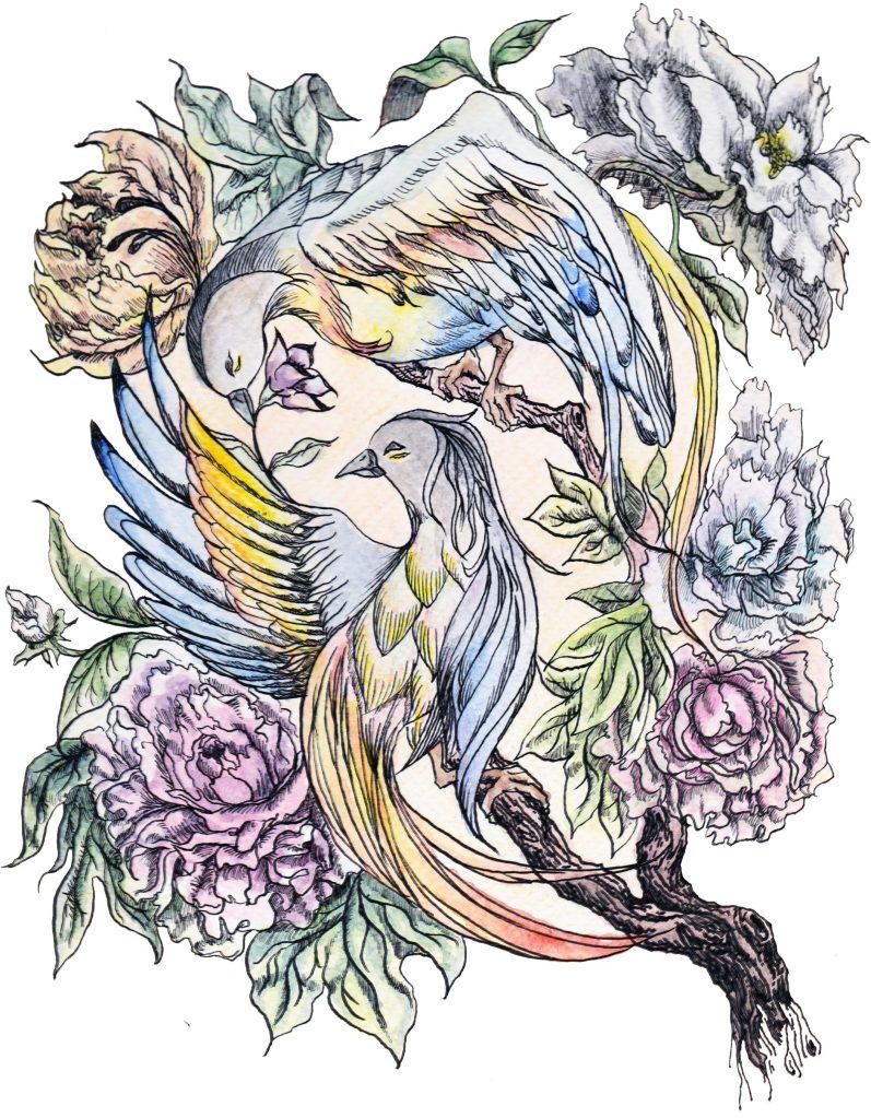 Birds-watercolor